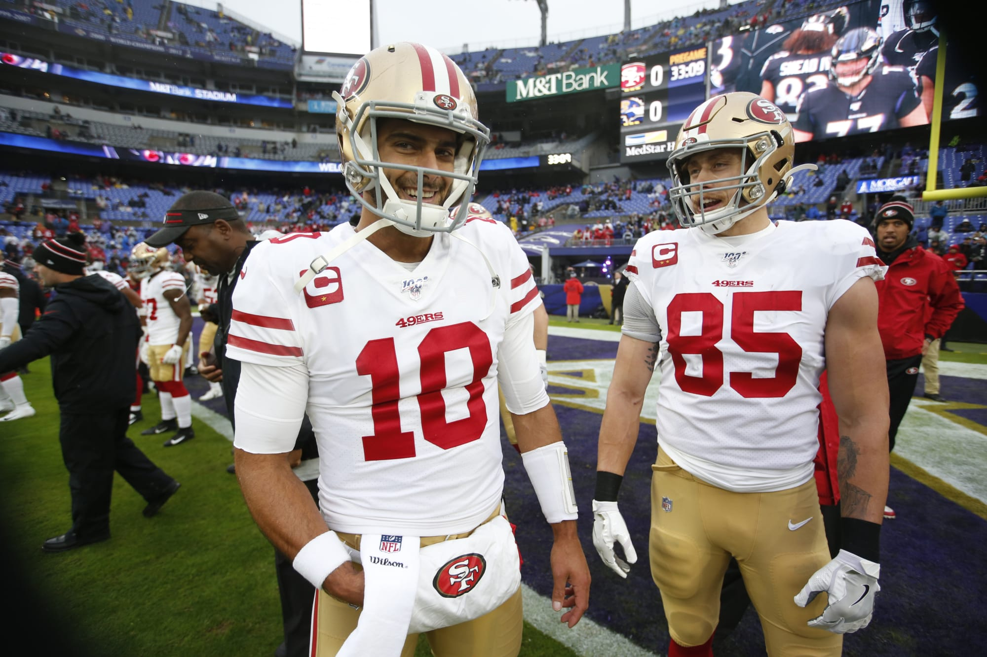 SF 49ers need Jimmy Garoppolo, George Kittle for a playoff run