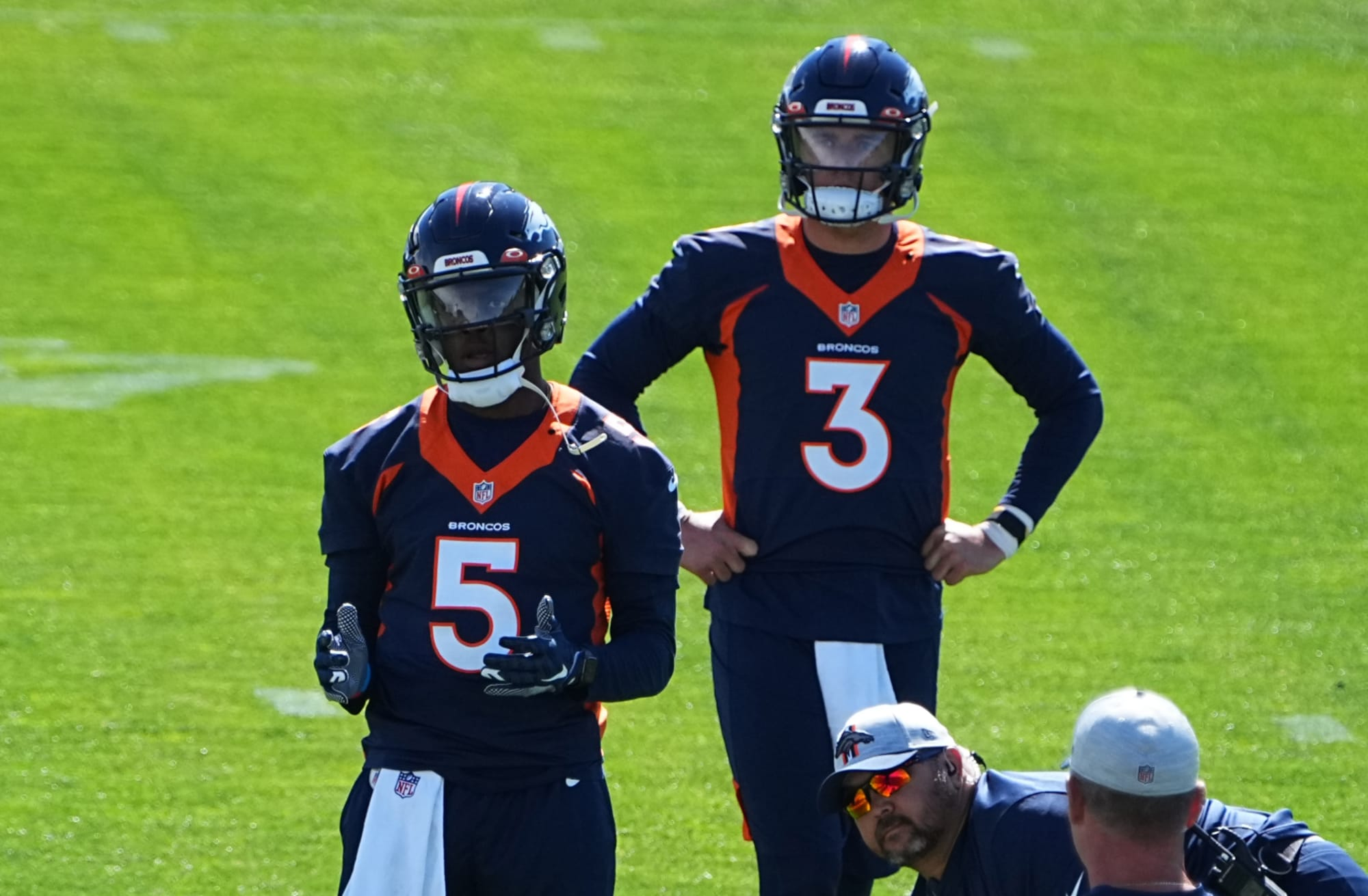 Teddy Bridgewater and Drew Lock, the two quarterbacks that Cam Newton could play above