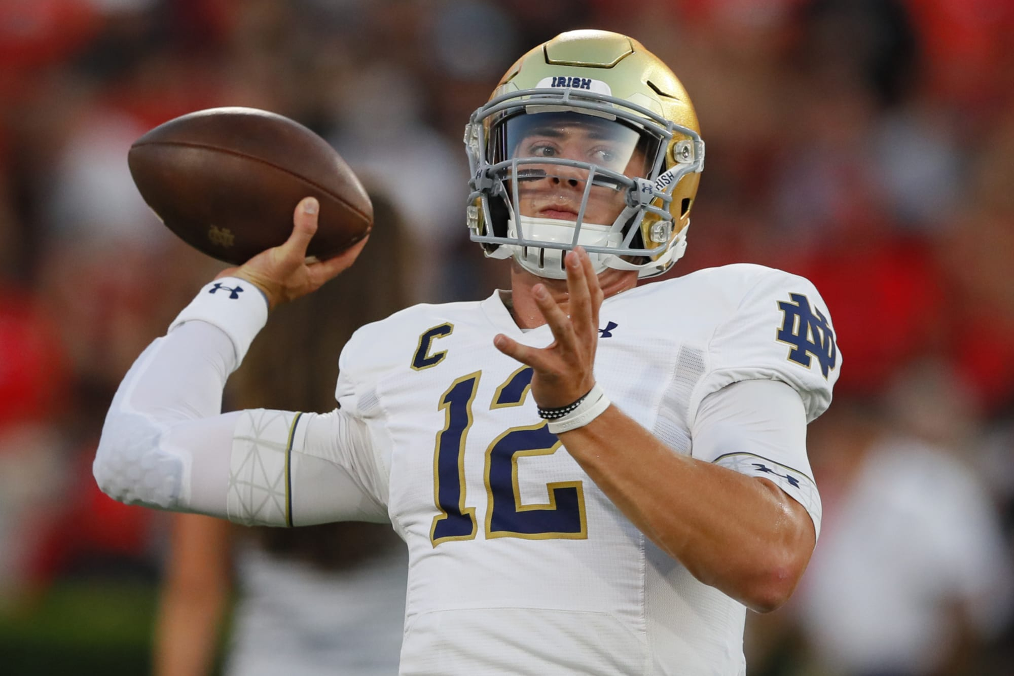 Notre Dame football: Ian Book one win away from school record
