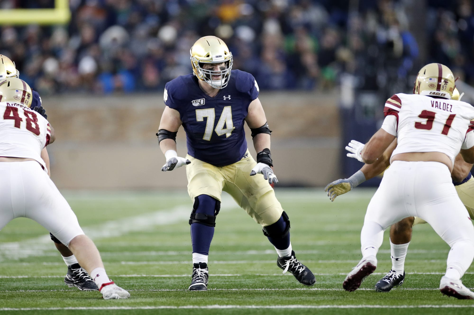 Notre Dame Football: Liam Eichenberg to benefit from OT movement