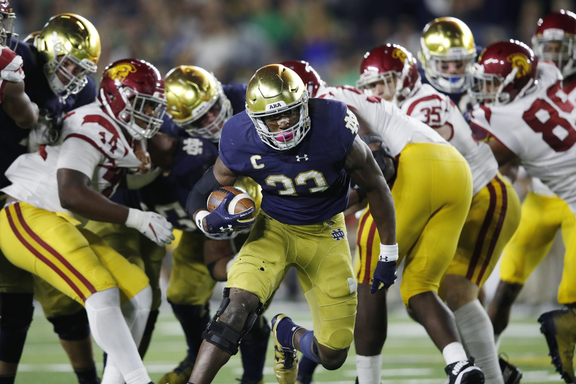 Notre Dame Football Projecting The 2018 Lineup Offense