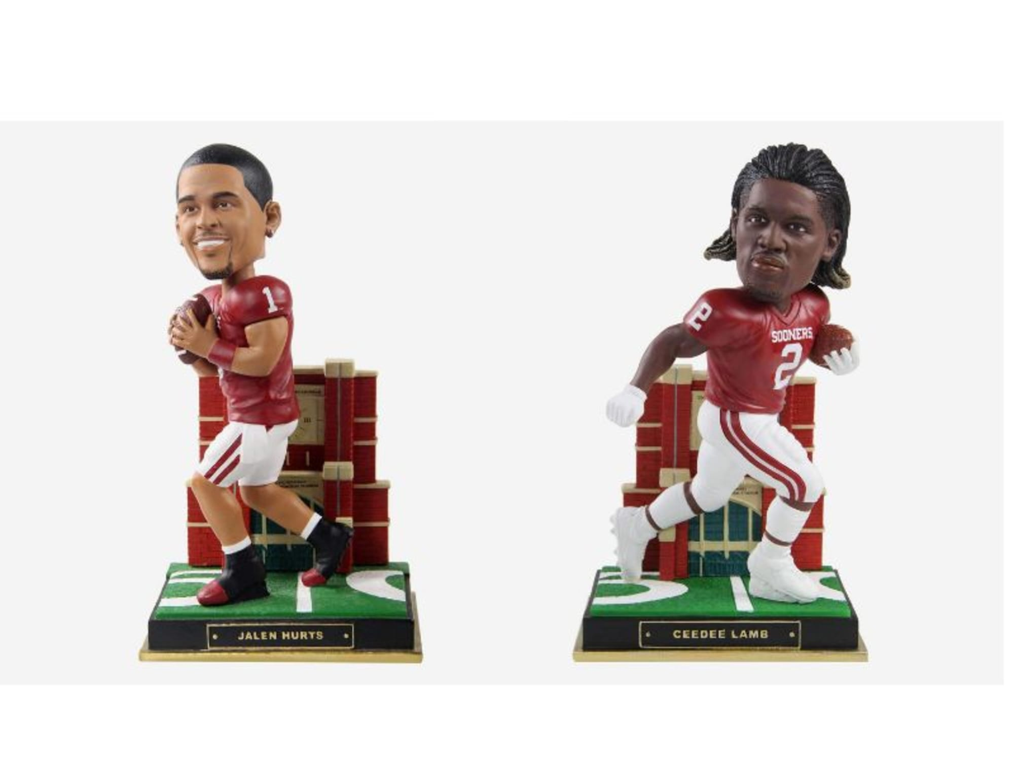 Oklahoma Sooners fans will love these Gate Series bobbleheads