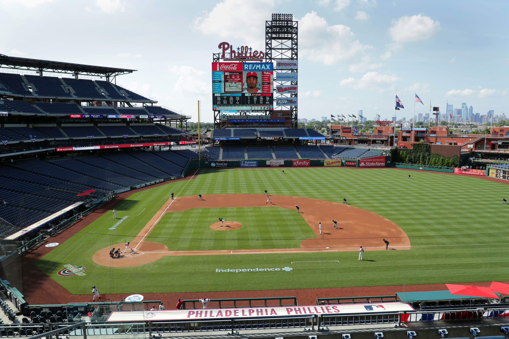 Phillies to host relocated Blue Jays as road team this week