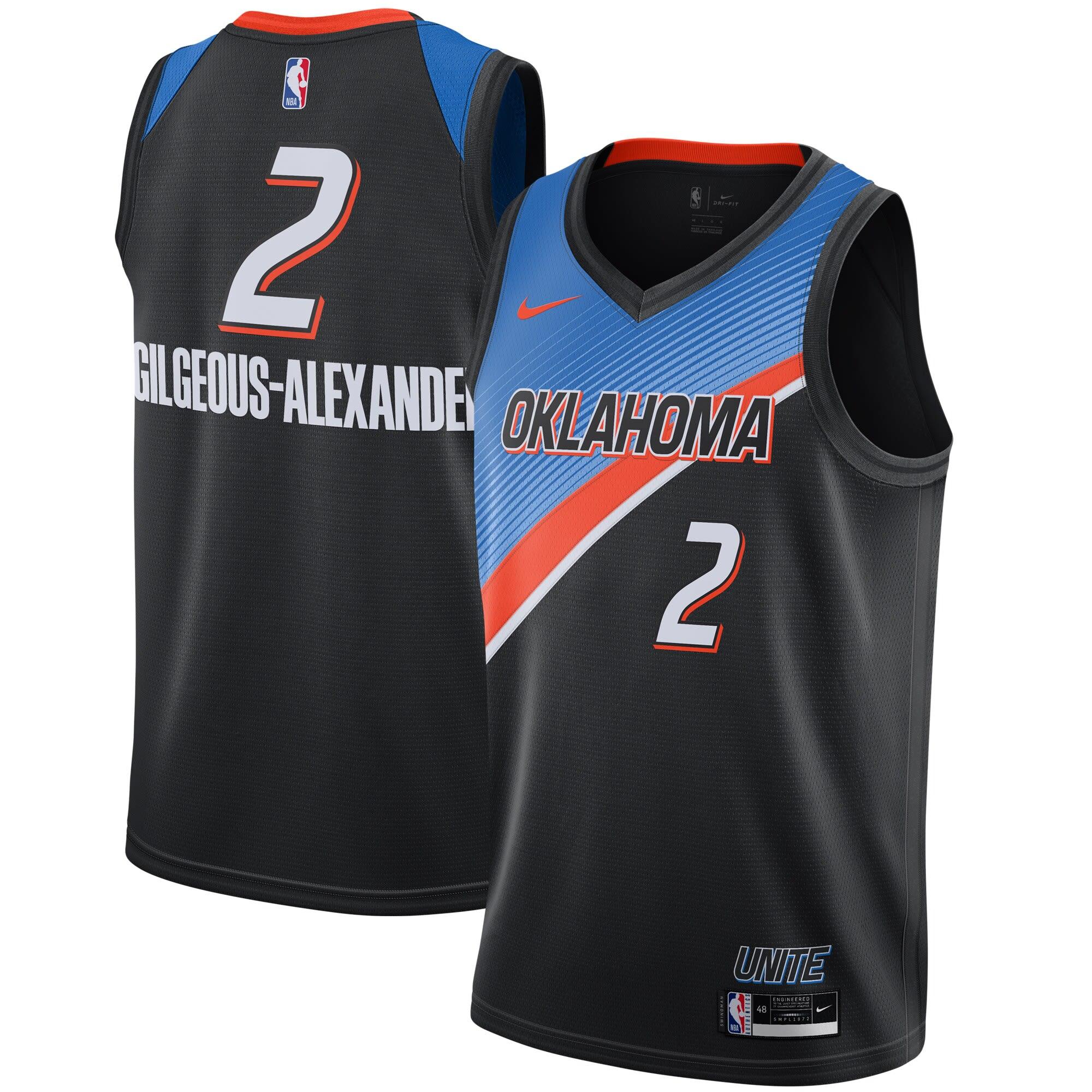 Oklahoma City Thunder City Edition gear