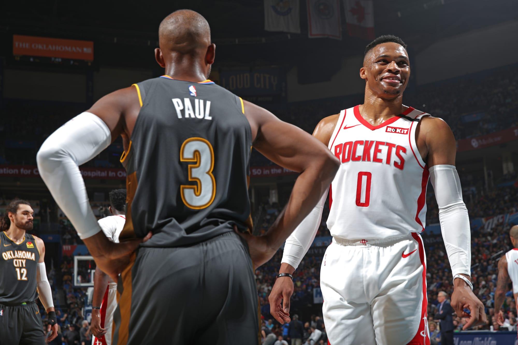 Comparing Russell Westbrook small ball success vs OKC ... Rockets Vs Thunder