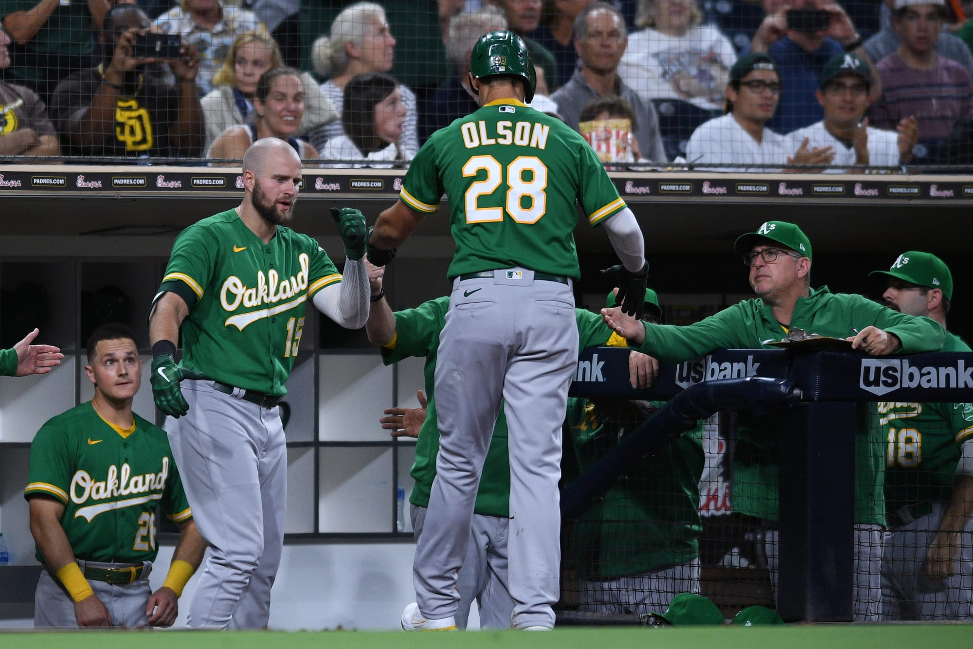 Matt Olson punishing left handed pitching this year
