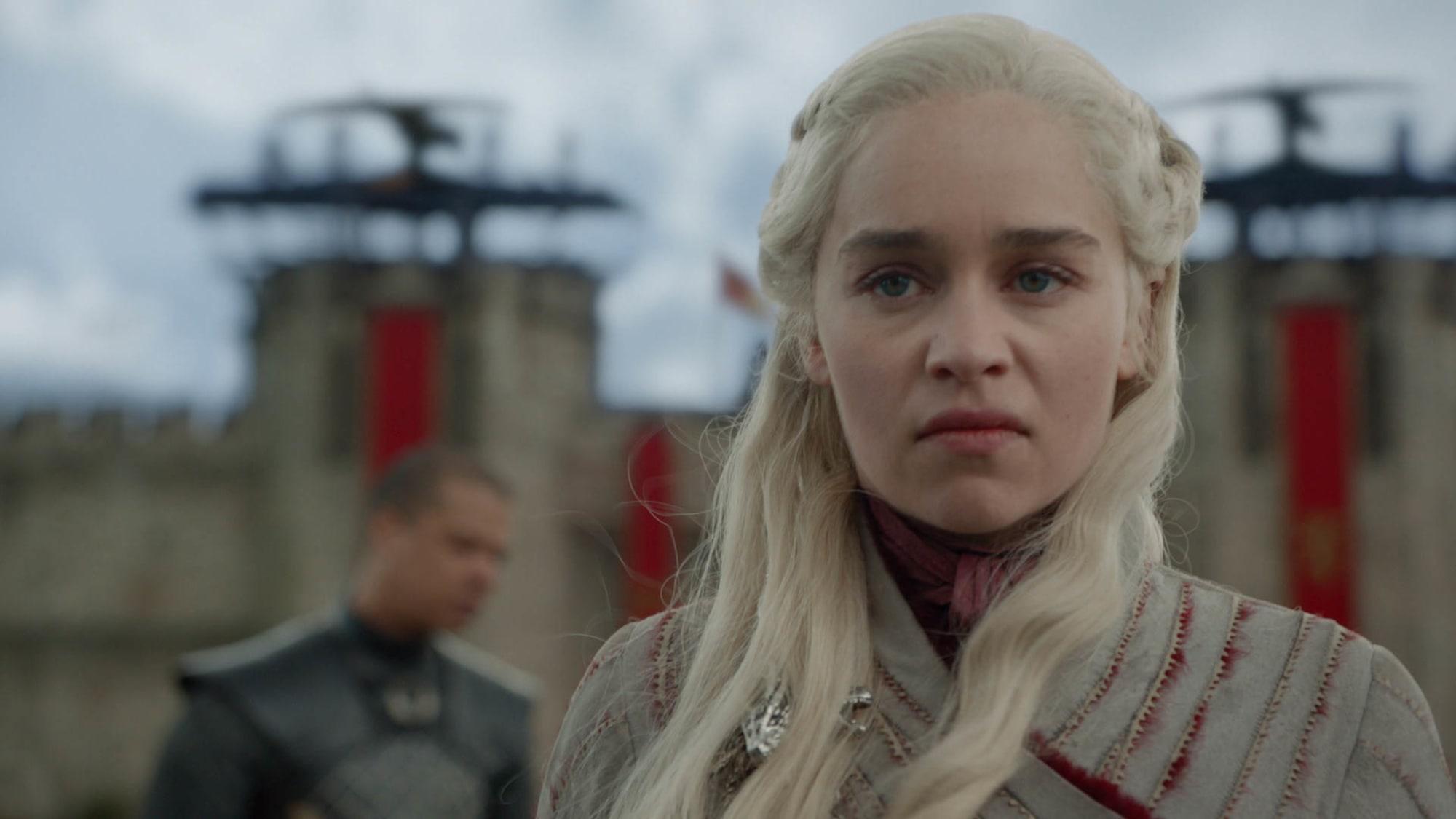 Daenerys Targaryen angry.
