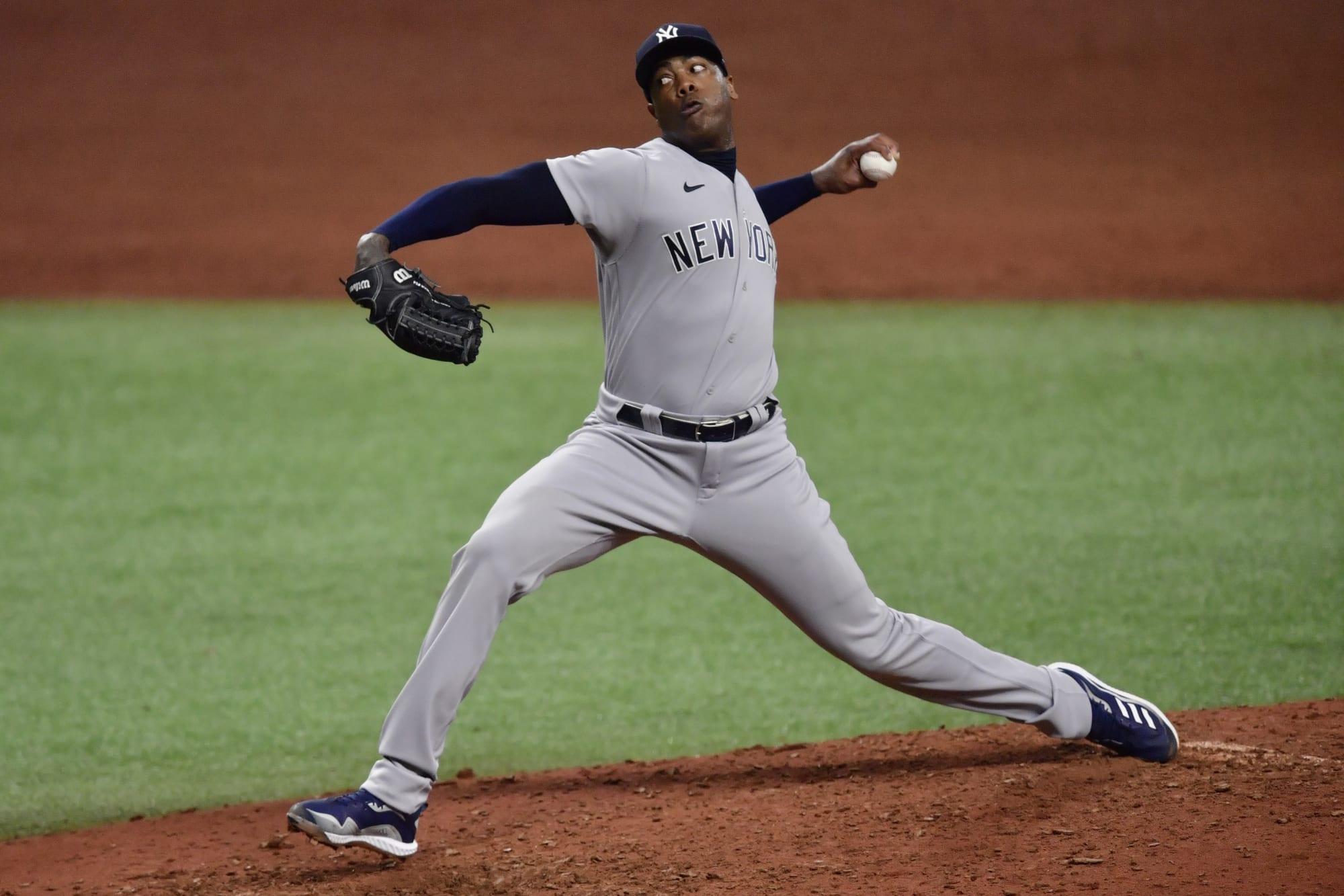 Yankees: Aroldis Chapman whiffs Nelson Cruz with perfect pitch to beat Rays