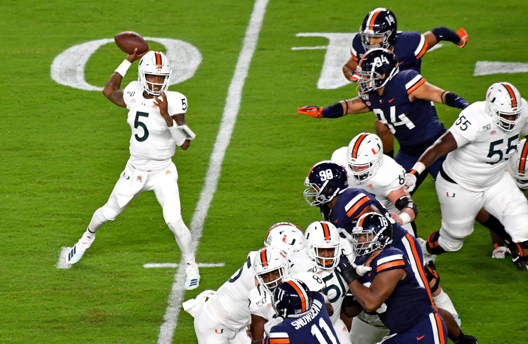 inconsistent Virginia test Hurricanes Miami secondary will