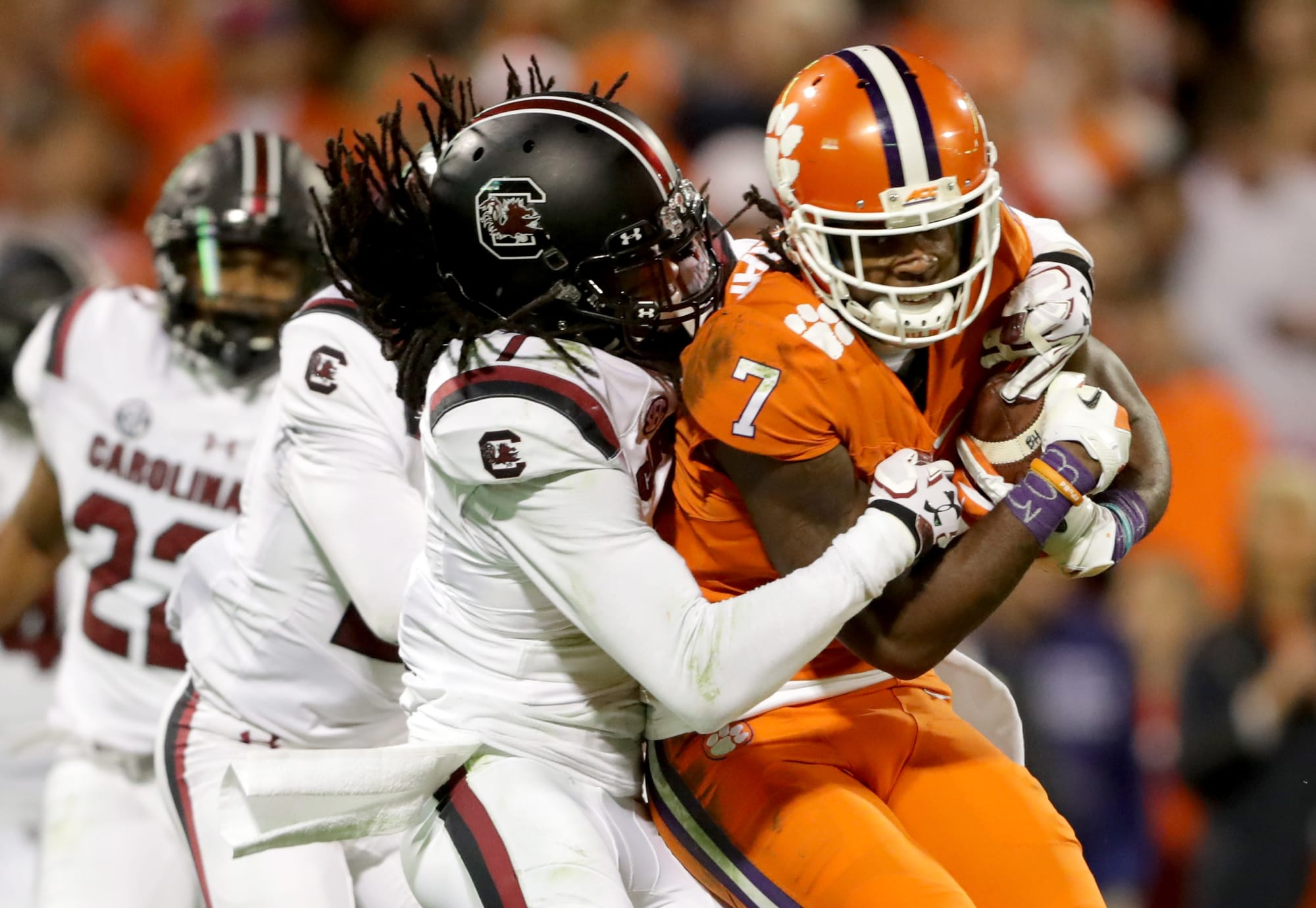How many bets on clemson carolina game does 2nd half betting include overtime bar