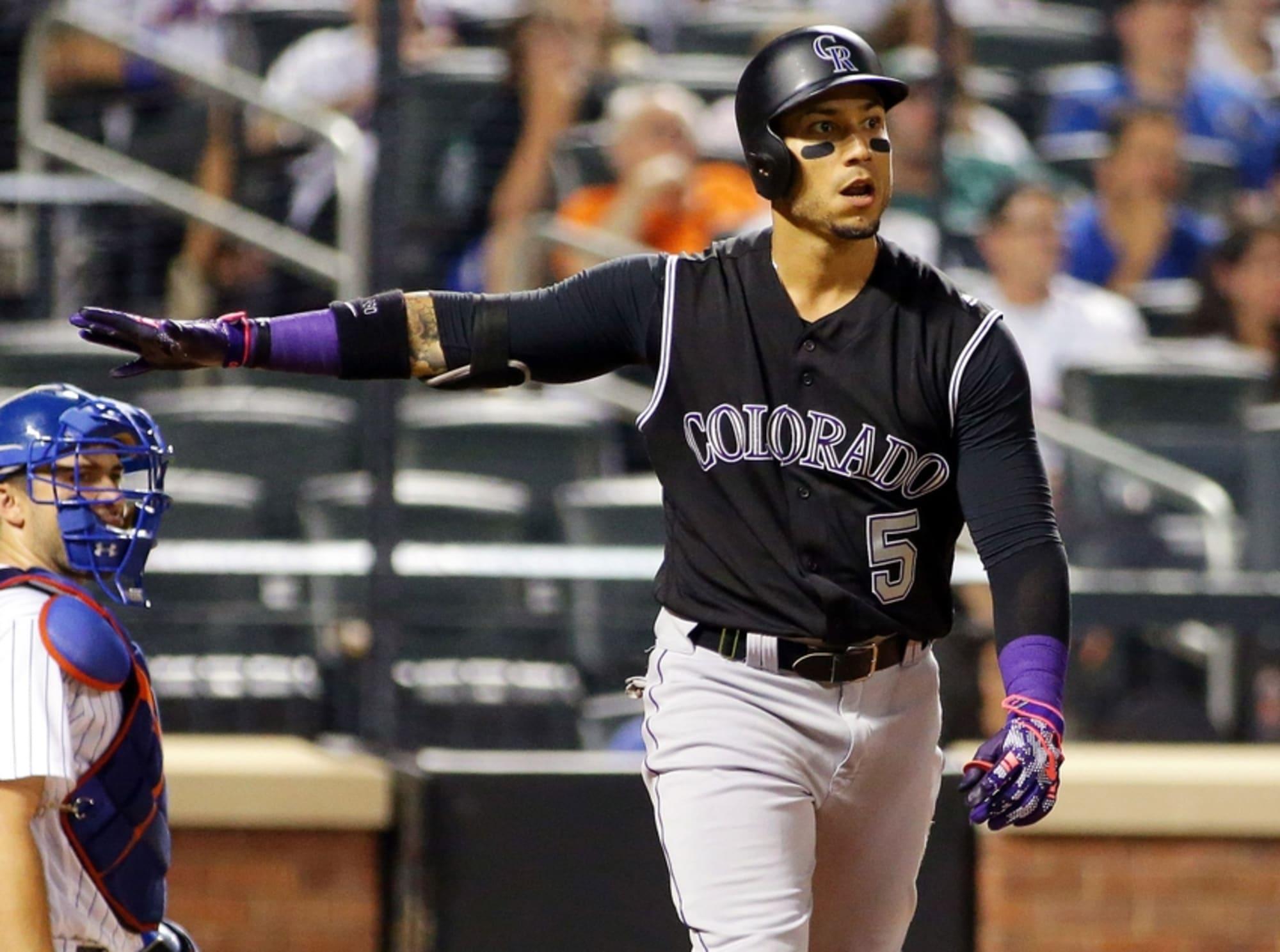 Carlos Gonzalez Colorado Rockies Baseball Player Jersey