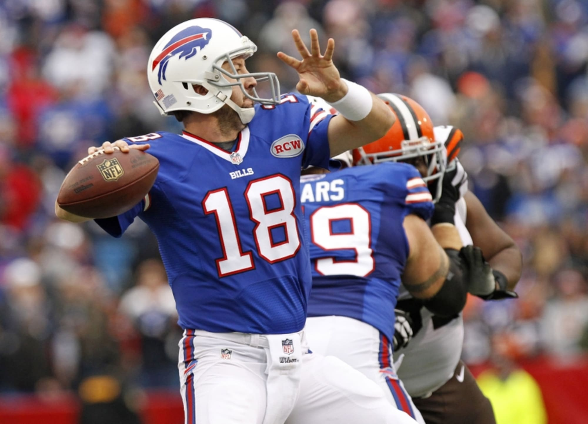 Fans Don Various Kyle Orton Jerseys To Chicago Bears Game