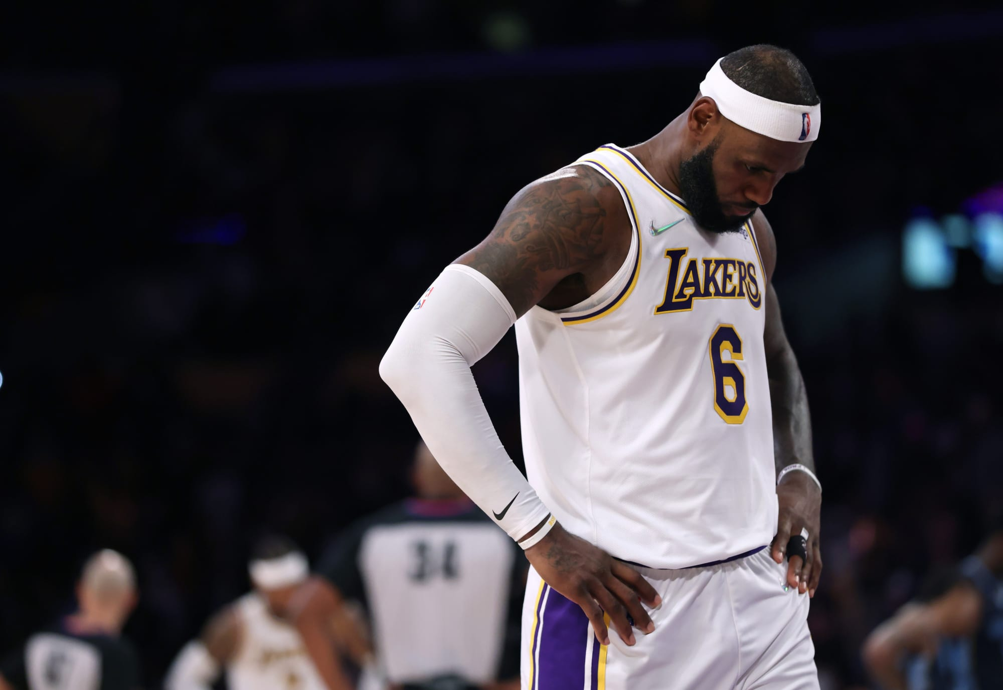 LeBron James was 'shaking his head inside' playing against son's former teammate