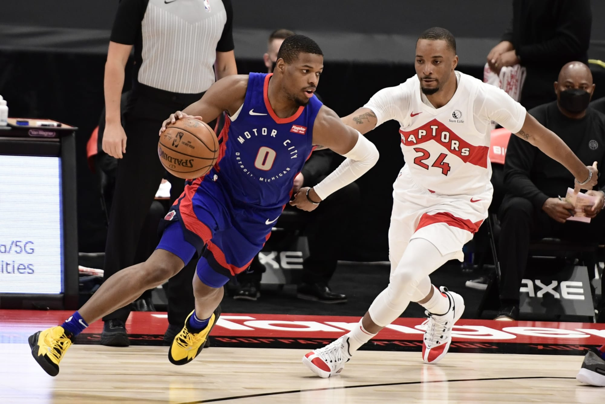 Shorthanded Raptors demolished by lowly Pistons in poor showing