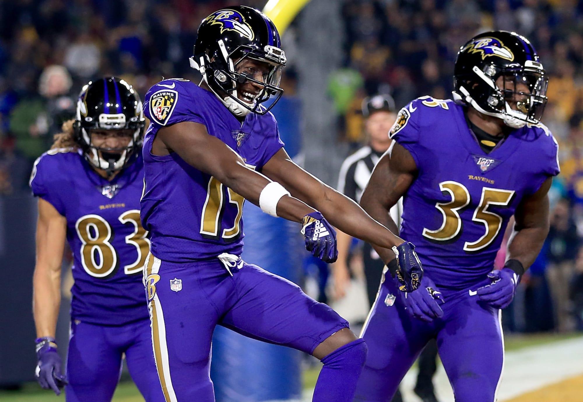 Baltimore Ravens #15 Marquise Brown Draft Game Jersey - Purple