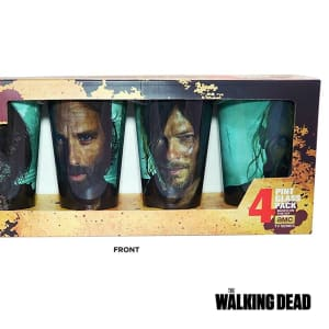4 PACK 16oz The Walking Dead PREMIUM Pint Glass GIFT SET