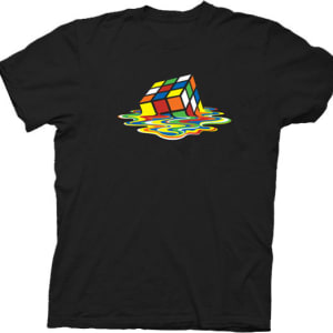 Rubik's Cube Melting Sheldon Cooper T-shirt