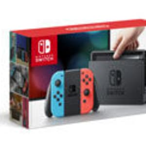 Nintendo Switch with Red and Blue Joy-Cons
