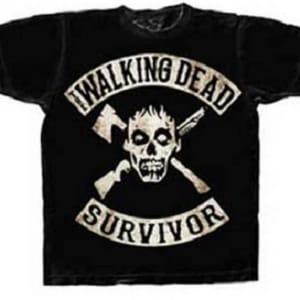 The Walking Dead Survivor Skull T-Shirt
