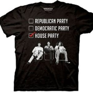 Workaholics Republican Democratic House Party T-shirt