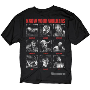 Know Your Walkers Adult Black T-Shirt