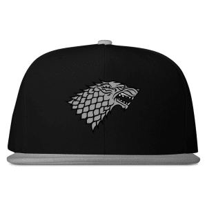 Stark Sigil Snapback Hat from Game of Thrones
