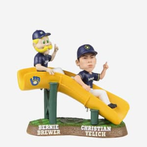 CHRISTIAN YELICH & BERNIE BREWER MILWAUKEE BREWERS DUAL BOBBLEHEAD
