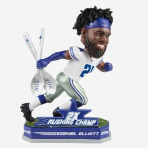 EZEKIEL ELLIOTT DALLAS COWBOYS 2X RUSHING CHAMPION BOBBLEHEAD