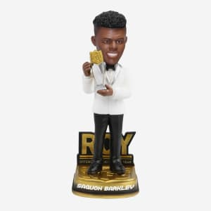 SAQUON BARKLEY NEW YORK GIANTS 2018 OFFENSIVE ROOKIE OF THE YEAR BOBBLEHEAD