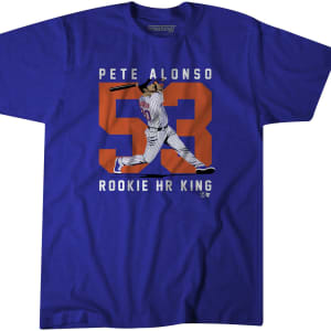 Pete Alonso Rookie HR King from BreakingT