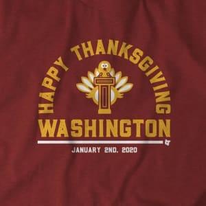 HAPPY THANKSGIVING, WASHINGTON