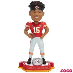 KANSAS CITY CHIEFS SUPER BOWL LIV 54 CHAMPIONS BOBBLEHEADS - MAHOMES