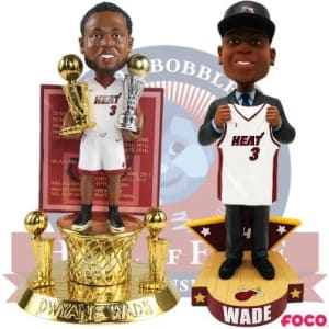 DWYANE WADE MIAMI HEAT CAREER CELEBRATION BOBBLEHEADS