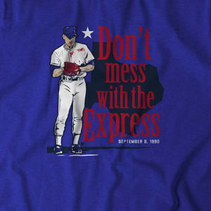 Nolan Ryan: Don't Mess With The Express T-Shirt by BreakingT