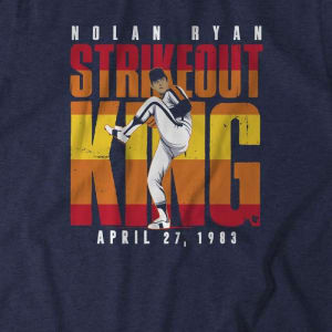 Nolan Ryan: Strikeout King T-Shirt by BreakingT