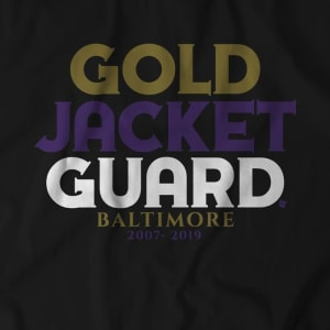 Baltimore's Gold Jacket Guard T-Shirt by BreakingT