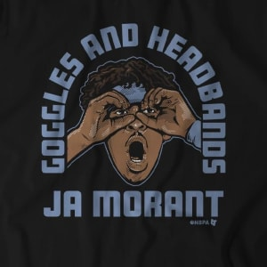 Goggles And Headbands Ja Morant T-Shirt by BreakingT