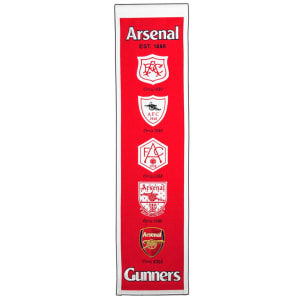 Arsenal Premier League Heritage Banner - Red