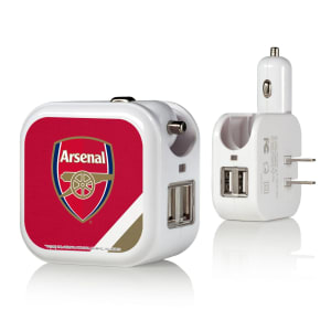 Arsenal Stripe Design 2-In-1 USB Charger
