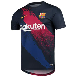 Barcelona Nike 2019/20 Dry Performance Pre-Match Top - Navy