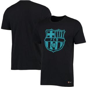 Barcelona Nike Crest T-Shirt - Black/Teal
