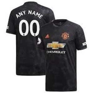 Manchester United adidas 2019/20 Third Replica Custom Jersey - Black
