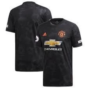 Manchester United adidas 2019/20 Third Replica Jersey - Black