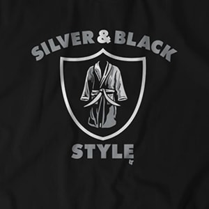 Silver & Black Style T-Shirt by BreakingT
