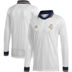 Real Madrid adidas Icons Long Sleeve T-Shirt - White