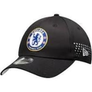 Chelsea New Era Perforated 39THIRTY Flex Hat - Black