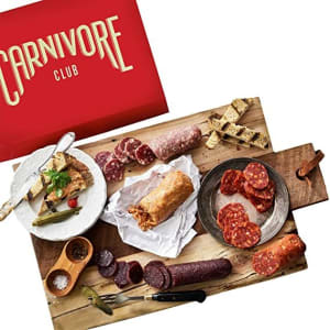 Carnivore Club Gift Box (Gourmet Food Gift) 5 Italian Meats Sampler From Nduja Artisans