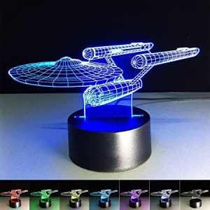 3D Illusion Lamp Sta Trek 3D LED Night Light