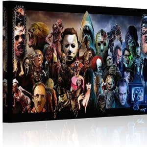 HAOSHUNDA Horror Movies Oil Painting on Canvas