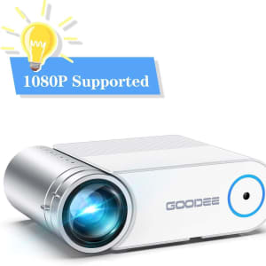 Projector, GooDee 2020 Upgrade G500 Mini Video Projector